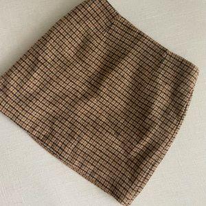 Fall plaid mini skirt